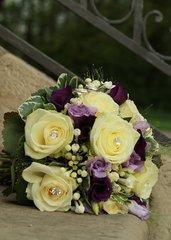 Brautstrauß - Strauß, Blumen, Rosen, Schmuck, Blumenschmuck, Hochzeit