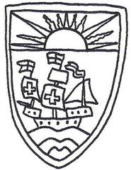 Wappen der Bahamas - Bahamas, Wappen, coat of arms, Sonne, Schiff, Kolumbus, Karibik, Weltgebetstag 2015, Spanien, Spanier, Kolonie, Commonwealth