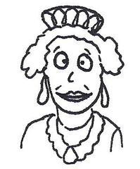 Queen Elizabeth II. - Queen, England, Elisabeth, Elizabeth, Royals, royal, Commonwealth, Windsor, London, second, die zweite, Königin, Königin von England, Karikatur, Ausmalbild