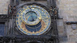 Astronomische Uhr  Prag #1 - Prag, Rathaus, Uhr, Rathausuhr, astronomisch, Astronomische Uhr