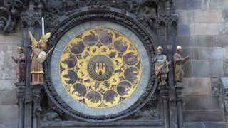 Astronomische Uhr  Prag #2 - Prag, Rathaus, Uhr, Rathausuhr, astronomisch, Astronomische Uhr