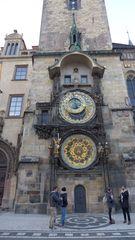 Astronomische Uhr  Prag #3 - Prag, Rathaus, Uhr, Rathausuhr, astronomisch, Astronomische Uhr