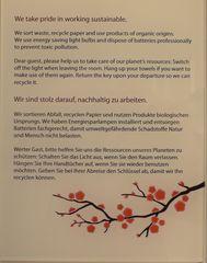 Hinweisschild  Nachhaltigkeit - Hinweis, Verhalten, Nachhaltigkeit, nachhaltig, sustainable