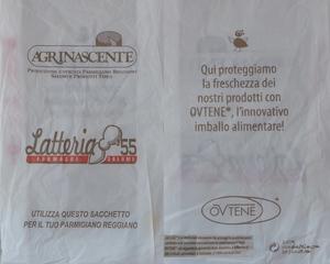 Papiertüte - Verpackung für Parmesankäse - Papiertüte, Verpackung, imballo, sacchetto