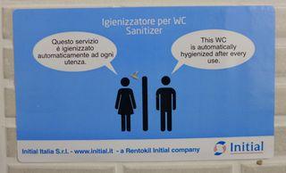 Toiletteninformation - italienisch - servizio, igienizzato, utenza