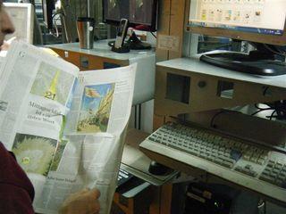 Zeitungsdruckerei #9 - Qualitätskontrolle, Anordnung, Druck