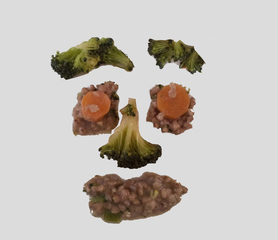 Gemüsegesicht - Gemüse, Gesicht, Nahrung, Broccoli, Couscous, Karotten, Arcimboldo, Kunst