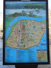 Avignon Centre historique - Avignon, centre, plan, Rhône, Stadtplan, Zentrum