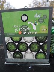 Je recycle le verre. - Avignon, verre, Glas, recycler, recyceln, Container, trier