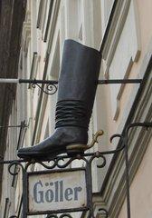 Ausleger eines Schuhmachers - Ausleger, Zunftzeichen, Stiefel, Schuh