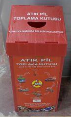 Abfallbehälter - türkisch - Müll, Mülltonne, Mülltrennung, Umwelt, Tonne, Abfalltonne, Abfall, Batterien, Sondermüll, Abfallbehälter