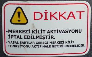Warnhinweis #2 - türkisch - Hinweis, Verbot, Gefahr, Gefahrenhinweis, Warnhinweis