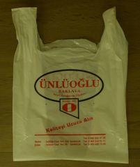Plastikbeutel - türkisch - Plastik, Platikbeutel, Plastiktüte, Einkauf, Kunststofffolie, Werbeträger