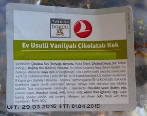 Verpackung - türkisch - Verpackung, Dessert, Schokoladenkuchen, Vanille