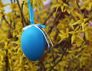 Ostergruß - Ostern, Osterei, österlich, Osterkarte, blau Ei, Vorlage, Frühling, fest, Schmuck, schmücken