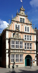 Hameln, Leisthaus - Weserrenaissance, Giebel, Museum, Sandstein, Fassade