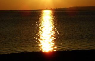Goldene Brücke - Sonne, Sonnenaufgang, Brücke, Ostsee, Bucht, Förde, Eckernförder Bucht, Kiekut, Strand, Sonnenstrahlen, Wasser, spiegeln, Sonnenstrahl, Morgenstimmung, Morgen, gold, golden, goldene, gülden, Besinnung, besinnlich, goldener