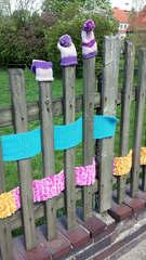 Urban Knitting #5 - stricken, häkeln, Kultur, Knitting, Graffiti, Kunst, Motiv, Impression, Motiv, warm, Wolle, Strickkunst, Objektkunst, Kunstobjekt, bunt, Verschönerung, Gemeinschaft