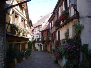Maisons d'Alsace - Typische Häuser aus dem Elsass - Elsass, Fachwerkhaus, Dorf, Stadt, Gasse, Frankreich, schmal, eng