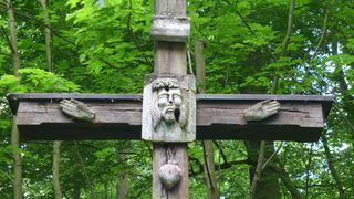 Christus am Kreuz #2 - Christus, Kreuz, INRI, Skulptur, Symbol, Kruzifix, Religion, Kreuzigung, Christentum, Jesus