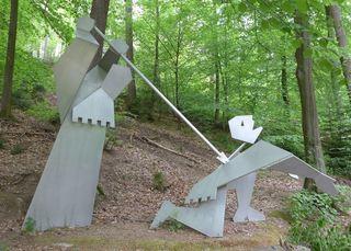 Siegfried - Siegfried, Metallskulptur, Skulptur, Kunstwerk, Geschichte, Nibelungenlied