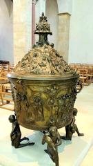 Hildesheimer Dom #04 - Bronzetaufe - Dom, Hildesheim, katholisch, Mariendom, Taufe, Taufbecken, Bronze, Mittelalter, Figuren, Kessel, Deckel