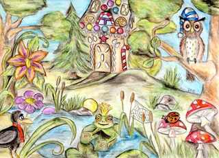 Märchenland - Märchen, Landschaft, Lebkuchenhaus, Froschkönig, Schreibanlass, Erzählanlass