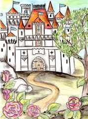 Märchenschloss - Märchen, Schloss, Dornröschen, Rosenranke