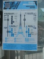 Tarifs Tour Eiffel - Frankreich, civilisation, Paris, Tour Eiffel, tarifs, Eiffelturm Eintrittspreise