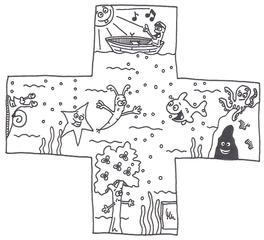 Plus - Plus, Rechenzeichen, Minus, Mal, Geteilt, Division, Addition, Subtraktion, Pluszeichen, Schreibanlass, Mathe, Deutsch, Kunst, Nawi, Biologie, Sachkunde, Heimatkunde, HSU, Wasser, Aquarium, Wasserlebewesen, Krake, Kraken, Oktopus, Boot, Unterwasserwelt, Möhre, Karotte, Taucher, Baum, Photosynthese, Schnecke, Höhle, Schatz, Blubberbläschen, Fisch, Seestern, Sonne, Kapitän, Ruderboot, Musik, Seemanslied, Seemannslieder, Shanty, Ausmalbild, Anmalbild, anmalen, ausmalen, kreatives Schreiben, Schreibwerkstatt, Vorzeichen