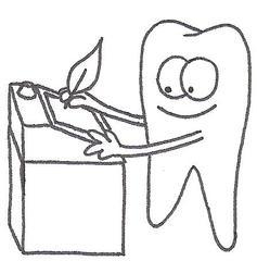 Zahn - Zahn, Stehpult, Schreibpult, Rednerpult, Feder, Tinte, Federkiel, Zahnarzt, schreiben, Zahnpflege, Zähne, Zähneputzen, Zahnbürste