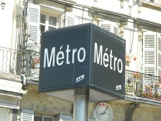 Marseille métro - Frankreich, Marseille, métro, U-Bahn, Schild, panneau