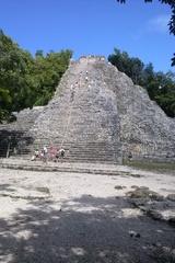 Maya Pyramide - Pyramide, Mexiko, Yucatan, Maya, Ruinenstätte, Sakralbau