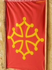 Flagge Languedoc - Frankreich, civilisation, Languedoc, drapeau, Flagge, rot, gelb, Kreuz