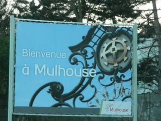 Bienvenue à Mulhouse - Frankreich, Mulhouse, Mülhausen, Alsace, Elsaß, bienvenue, panneau, Schild