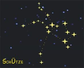 Sternbild Schütze (Sagittarius) – Tierkreiszeichen Schütze - Astronomie, Astrologie, Himmel, Sterne, Sternzeichen, Tierkreiszeichen, Nacht, Sternbilder, Schütze.