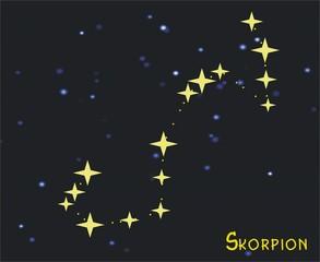 Sternbild Skorpion (Scorpius) – Tierkreiszeichen Skorpion - Astronomie, Astrologie, Himmel, Sterne, Sternzeichen, Tierkreiszeichen, Nacht, Sternbilder, Skorpion.