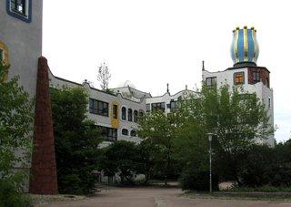 Luther-Melanchton-Gymnasium Wittenberg - Hundertwasserschule # 2 - Schule, Gebäude, Hundertwasser, Hundertwasserschule, Europaschule, Wittenberg