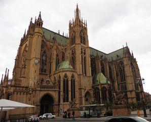 Metz Kathedrale - Kirchengebäude, Kathedrale, Kulturdenkmal, Kirche, Metz, Gotik, Architektur, Religion