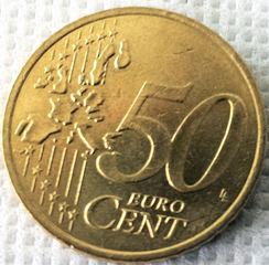 50 Cent - Geld, Münzen, Münze, Scheine, Schein, Geldschein, Zahlen, bezahlen, Euro, Summe, Wechselgeld, wechseln, Währung, Daf