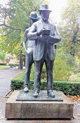 Skulptur - Heinrich Zille - Milieuzeichnungen, Milieu, Zeichnungen, Zille, Künstler, Berlin, Standbild, Kunst, Geschichte