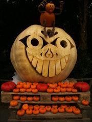 Kürbisgeist - Kürbis, Halloween, Fratze, Gesicht, Herbst, Jahreszeit, Kürbisgeist, Kürbislicht