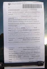 Strafzettel - Strafzettel, accertamento di violazione, polizia