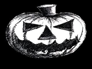 Halloween - Kürbis (ohne Schrift) - Kürbis, Halloween, pumpkin, gruselig, Fratze, Gesicht, gruselig, gruseln, Jack O'Lantern, Anlaut K, Herbst, Jahreszeit, Wörter mit ü