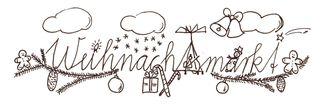 Schriftgrafik Weihnachtsmarkt sw - fröhlich, Weihnacht, Illustration, Rahmen, gestalten, Feiertag, Fest, Weihnachten, gestalten, Schriftzug, Weihnachtsgruß, Gruß, Schmuckblatt, Weihnachtsmotiv, weihnachtlich, Linienbild, Strichzeichnung, Advent, Weihnachtsmarkt