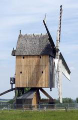 Bockwindmühle 1 - Mühle, Mehl, Getreide, Bockwindmühle, Windmühle, Mühle, Windkraft, Flügel, mahlen, Ständermühle, Kastenmühle, Mühlenhaus, Pfahl