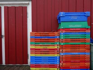 Kisten im Hafen - Fischerei, Hafen, Fischfang, Meer