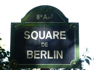 Square de Berlin - Paris, panneau, Schild, square, Platz, arrondissement