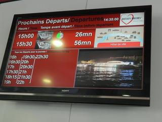 Bateaux mouches - départs - Paris, Seine, bateau, bateaux mouches, départ, Abfahrt, panneau
