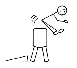 Turnen - Bockspringen - turnen, Sport, Bockspringen, Bocksprung, Fach, Unterrichtsfach, Sportgerät, Bock, Sprung, springen, Zeichnung, Stundenplan